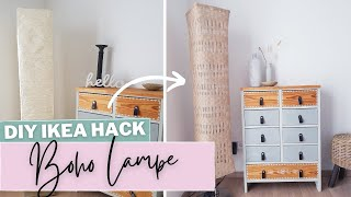 DIY - BOHO Lampe | DIY HACK mit IKEA Lampenschirm | Weben mit Juteband