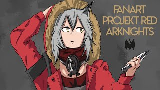 Projekt Red  - (Arknights) - Fanart - Projekt Red (Arknights)