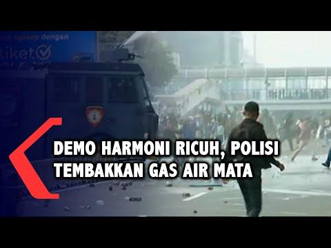 demo harmoni ricuh polisi tembakkan gas air mata