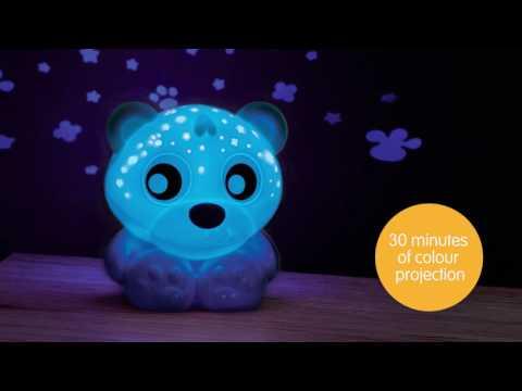 Naktslampiņa - projektors Playgro Lācītis (zils), 0186423