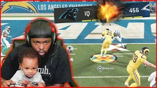 Playing Madden 20 With My 8 Month Old Son... He Pooped MID GAME!