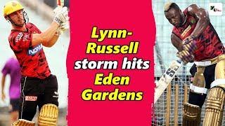Watch: Chris Lynn & Andre Russell show at the Eden Gardens ahead of SRH match | IPL 2019