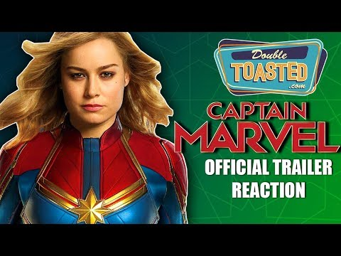 CAPTAIN MARVEL OFFICIAL 2019 MOVIE TRAILER REACTION