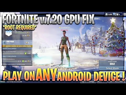 FORTNITE UPDATE v6 30 APK Android GPU Not Compatible Fixed