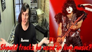 Should tracks be used in live music?