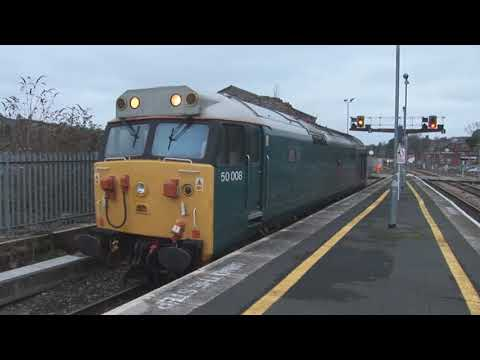 50008 'Thunderer' & 56104 at Exeter St Davids with a Rail Gr…