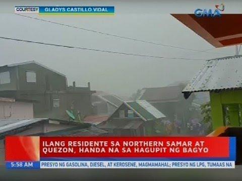 [GMA]  UB: Ilang residente sa Northern Samar at Quezon, handa na sa hagupit ng bagyo