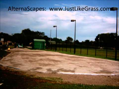Golf Putting Green Artificial Grass Installation Video at Tangelo Park in Orlando, Florida