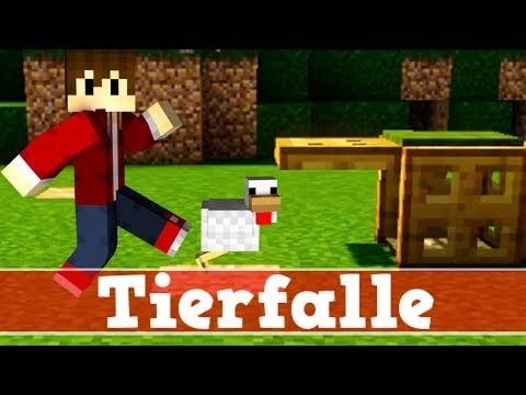 Minecraft Wie baut man eine funktionierende Tierfalle | Minecraft Tierfalle bauen deutsch