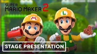 Super Mario Maker 2 Nintendo Treehouse Presentation (Pt. 2) - E3 2019