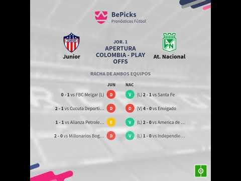 Previa Junior vs At. Nacional - Jornada 1 - Apertura Colombia - Play O... - Pronosticos y...