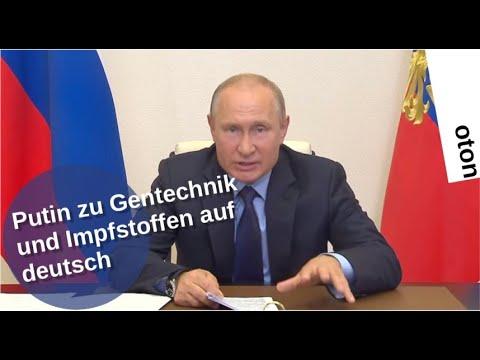 Putin zu Gentechnik und Impfstoffen auf deutsch [Video]