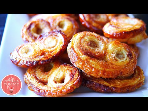 "Palmier Recipe   10 MIN Cookie Recipe   Печенье ""Ушки слоеные"" how to palmiers"