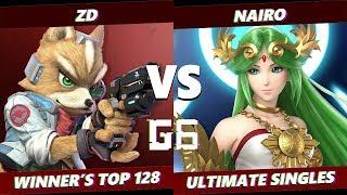 Glitch 6 SSBU -  Demise | ZD (Fox) VS  NRG | Nairo (Palutena) Smash Ultimate Winner's Top 128