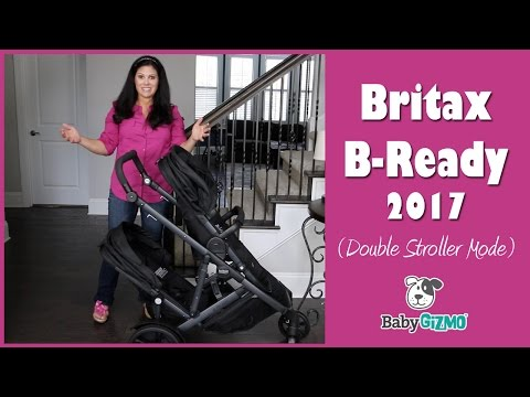 BRITAX B-READY 2017 Double Stroller Mode Review
