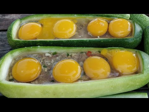 Yummy Cooking Eggs Duck and Pork in Wax Gourd / Kdeb Cooking