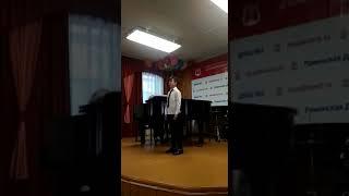 2019.05.28 Отец-герой. Переводной экзамен по вокалу в музыкальной школе за 3 класс.