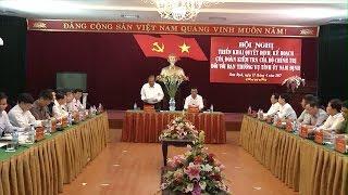 Đoàn kiểm tra của Bộ Chính trị làm việc với tỉnh ủy Nam Định