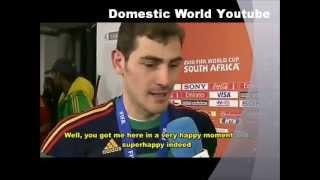 Casillas Kissing the hot interviewer