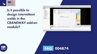 FAQ 004874 | Is it possible to design intermittent welds in the CRANEWAY add-on module?