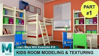3D House Modeling Autodesk Maya Tutorial | Easy Learn 3D Animation Tutorials For Beginners #01
