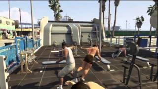 GTA V GTA 5   Жестокие схватки,драки (Накауты)!