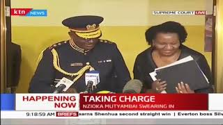 TAKING CHARGE: Nzioka Mutyambai swearing-in as Inspector general of police at the supreme court