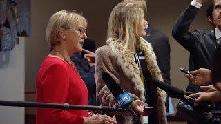 Margot Wallström (Sweden) on the DPR Korea - Security Council Media Stakeout (15 December 2017)