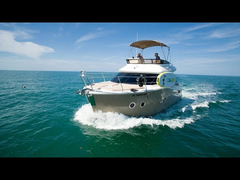 Drone video of a boat that was for sale in Naples, Florida