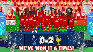 🏆🏆🏆LIVERPOOL 6 TIMES🏆🏆🏆 (0-2 Champions League Final 2019 Tottenham Song Goals Highlights)