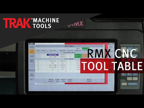 Tool Table | ProtoTRAK RMX CNC | Overview