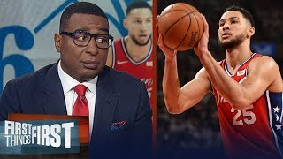 Cris Carter reacts to the Sixers giving Ben Simmons a max contact   NBA   FIRST THINGS FIRST