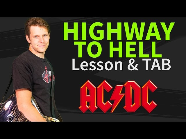 how to play highway to hell guitar lesson tab ac dc. Black Bedroom Furniture Sets. Home Design Ideas