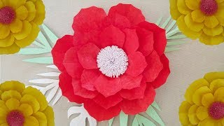 How To Make Paper Flowers At Home Paper Flower Craft Paper