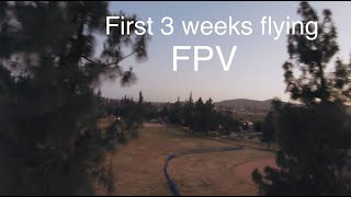 3 weeks flying FPV drone (last battery of the day)