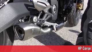 preview picture of video 'HP Corse Exhaust Triumph Street Triple Assembling & Soundcheck by TWO'