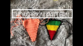 HOW TO CROCHET A SIMPLE ONE SIZE THONG BIKINI / CROCHET BIKINI BOTTOM TUTORIAL