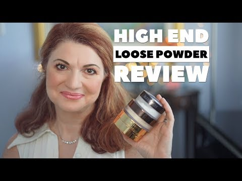 High-end loose powder review | Hourglass, YSL, L. Mercier, Guerlain