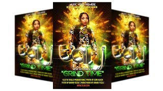 How To Make Flyers On Adobe PSD Photoshop Tutorials CC Party Event Club Graphic Design Vol 3