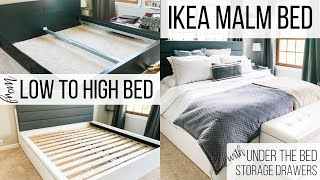 IKEA MALM BED FRAME -  ADDING UNDER THE BED STORAGE!