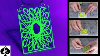 How to Make a String Art in Epoxy Resin Pendant | UV Reactive Glow | DIY Tutorial