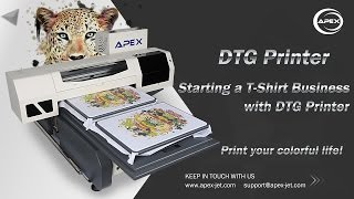 How to Print T-Shirt Easy Using Apex DTG Printer.
