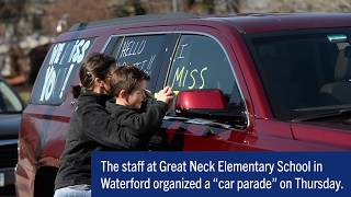Great Neck Elementary car parade