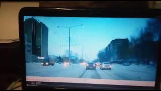 Трамвай впечатал авто в столб в ВКО