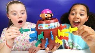 Pop Up Pirate Toy Challenge | Pikmi Pop Surprise Lollipop Prizes | Family Fun Video