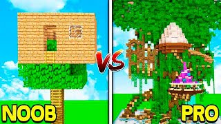 MINECRAFT - NOOB VS PRO: TREE HOUSES!