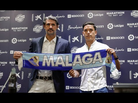 """Santos, contento de venir a un """"grandísimo"""" club como es el Málaga"""