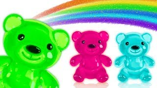Gummy Bear Finger Family Songs with Surprise Eggs for Kids by HooplaKidz