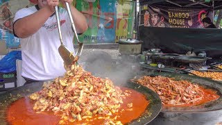 Cooking Huge Pans of Indian Curry. London Street Food from India