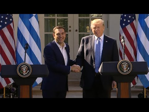 President Trump holds news conference with Greek PM who once called him